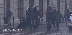 Sarı Yelekliler Protestoları Sırasında Tanıdık Çıkan Polis ve Protestocunun Selamlaştığı Anlar