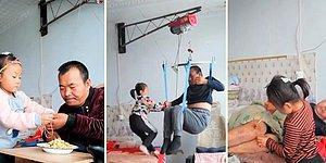 Annesi Terk Ettikten Sonra Felçli Babasına Tek Başına Bakmak Zorunda Kalan 6 Yaşındaki Kız