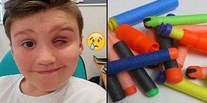 Arkadaşıyla Oyun Oynarken Nerf Tabancası Yüzünden Bir Gözünü Kaybeden Çocuk
