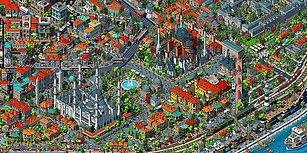 Tarık Tolunay'ın Tüm Detaylarıyla İstanbul'u Çizdiği 200 Milyon Piksellik İllüstratif Harita: Fractal İstanbul