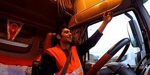 Fransa'daki Sarı Yelekliler Protestolarına Havalı Kornasıyla Eşlik Eden Türk TIR Şoförü