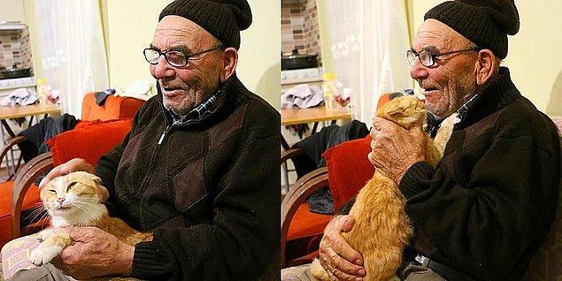 Ama işte bir yanda da bu güzellik var! Sobasını tutuşturmak isterken çıkan yangında kedileriyle sokakta kalan Ali Amca'yı hatırladınız mı?