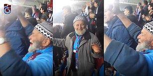Trabzonspor Tribünlerindeki Coşkusuyla Dikkatleri Üzerine Çeken Ahmet Dedenin Taraftarlık Hikayesi