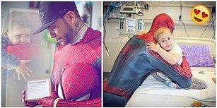 Dünyayı İyilik Kurtaracak! İşini Bıraktıktan Sonra Hasta Çocukları Mutlu Etmek İçin Spider Man Kılığına Giren Adam