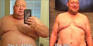 Spor ve Diyetle 1 Yılda 90 Kilo Vermeyi Başaran Azimli Adam!