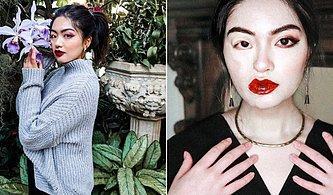 Asimetrik Yüz Hatlarının Güzel ve Güçlü Görünmeye Engel Olmadığını İspatlayan Genç Kadın