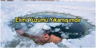 Aniden Soğuyup Buz Gibi Olan Havaları Yaptıkları Şakalarla Birazcık da Olsa Isıtmış 15 Kişi