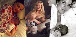 Bebeklerini Emzirirken Çektirdikleri Fotoğraflarla Anneliğin En Güzel Yanını Ortaya Koyan 21 Ünlü