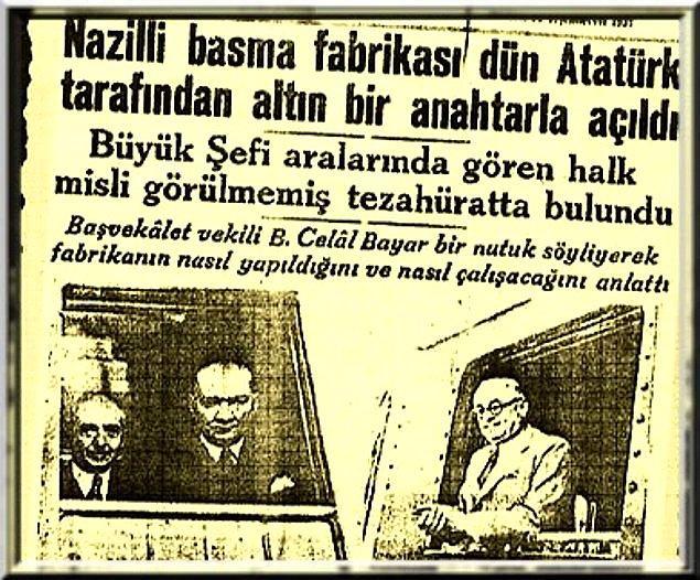Bizzat Mustafa Kemal'in yaptığı resmi açılış bölge halkının büyük desteğiyle yapıldı.