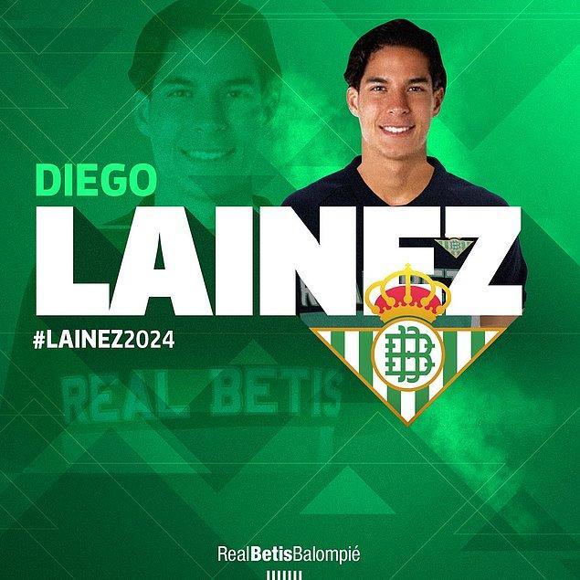 Diego Lainez ➡️ Real Betis - [14 milyon euro]