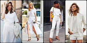 Böyle Giyinmek Cesaret İster! 2019'da Her Gün Giymek İsteyeceğiniz Beyaz Kombin Önerileri