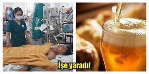 Çivi Çiviyi Söküyormuş! Alkolden Zehirlenen Adamı Doktorlar 15 Bira ile Hayata Döndürdü