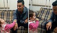 İşitme Engelli Babasıyla İşaret Dilinde İletişim Kurmaya Çalışan 1 Buçuk Yaşındaki Çocuk