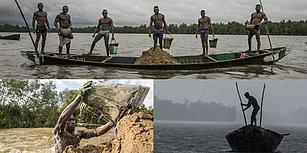 Heykelden Hallice Vücutlarıyla Kamerun'un Zor Şartlar Altında Çalışan Madencilerinden Muhteşem Fotoğraflar