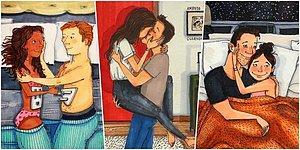 Bak Aşkım, Aynı Biz! Aşklarını Doyasıya Yaşayarak Herkesi Özendiren Çiftlerin Kendilerini Bulacağı 21 İllüstrasyon