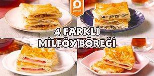 Çat Kapı Gelen Misafirlere Şipşak 4 Farklı Milföy Böreği Nasıl Yapılır?