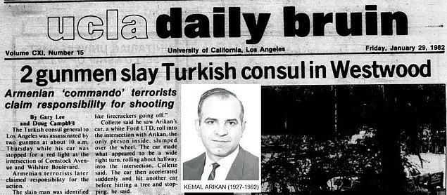 1982: Kemal Arıkan Suikasti.
