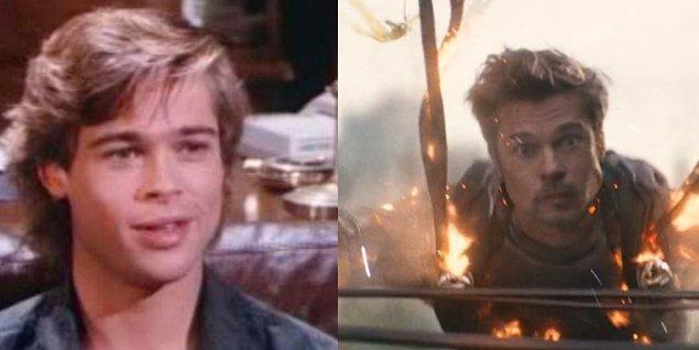 7. Brad Pitt - Dallas (1987) / Deadpool 2