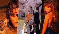 Yaşamının İlk 10 Yılını Afrika Ormanlarında Büyüyerek Geçiren Kızın Muhteşem Fotoğrafları