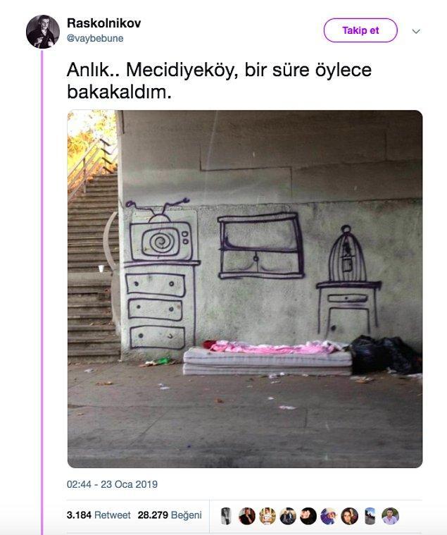 """5. """"Duvar resimlerinin Mecidiyeköy'deki bir köprü altından olduğu iddiası."""""""