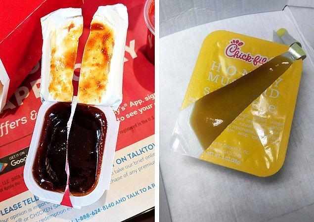 17. Böyle açılan sos paketlerine ne demeli?