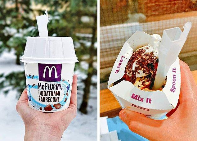 4. McDonald's dondurmalarının kaşıklarının sapı neden kare şeklinde?