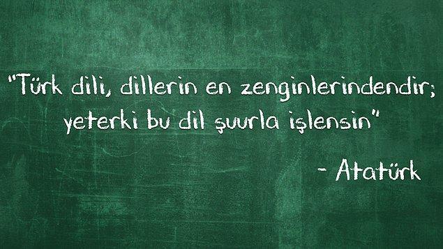 """#7 Atatürk'ün özdeyişinde """"-ki""""  bağlacının kullanımı:"""