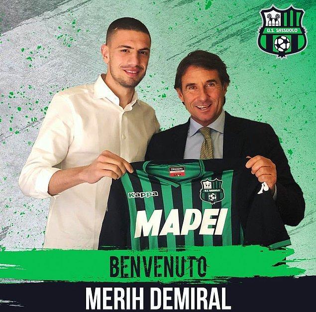 Alanyaspor'da da iyi bir performans sergileyen Merih, İtalya Seri A ekiplerinden Sassuolo'ya 7 milyon euro karşılığında transfer oldu.