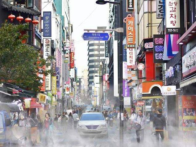 Güney Kore'nin başkenti olan Seul'un kirlilik derecesi ise 2018'de 48'di.