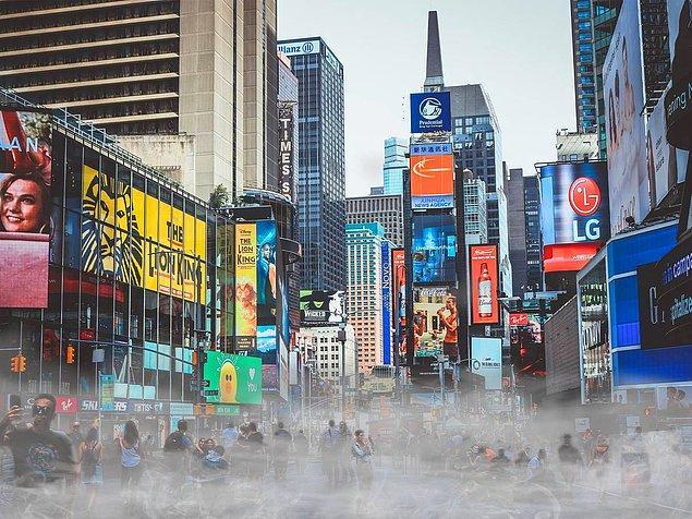 Kalabalık bir şehir olan New York'un ise hava kirliliği derecesi 30.