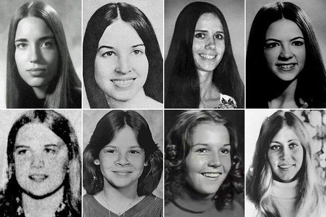 İşte Ted'in kurbanlarından bazıları... Soldan sağa Roberta Parks, Julie Cunningham, Brenda Carol Ball, Georgann Hawkins, Susan Rancourt, Kimberly Leach, Nancy Wilcox, Janice Ott.
