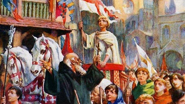 Birkaç ay içinde çoban Stephan'ın etrafında otuz bin çocuk birleşti. Kızıldeniz'i ikiye yaran Hazreti Musa gibi, Akdeniz'in de kendilerine yol vereceğine inanan çocuklar Marsilya'ya kadar gittiler.