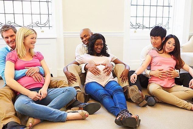 Eşinizin böyle bir talebi varsa, mutlaka doğum eğitimlerine ya da hamile etkinliklerine katılın.