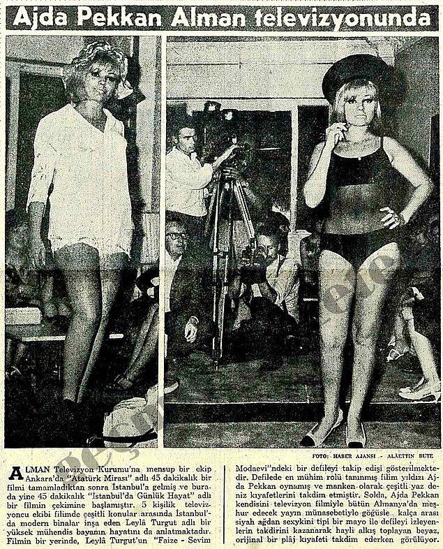 Yıl 1965 ve şöhreti kariyerinin ilk yıllarında yurt dışına çıkmış bile.