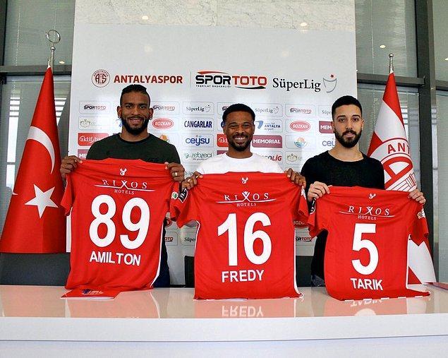 Amilton, Tarık Çamdal, Fredy ➡️ Antalyaspor