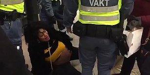 Hamile Kadını Zorla Metrodan İndirerek Şiddet Uygulayan Güvenlik Görevlilerinin Tepki Çeken Görüntüleri