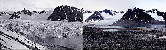 12. Tüm bunlarına yanında Antratika'daki buzullar küresel ısınma...