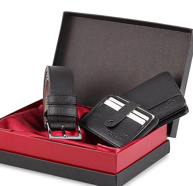 8. Tabii beyleri de düşündük! Özel kutusunda kemer, cüzdan ve kartlık kombini hediye konusunda kesin çözüm olabilir. 😉