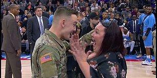 Askerden Dönen Adamın Sacramento Kings Maçının Devre Arasında Annesine Yaptığı Büyük Sürpriz!