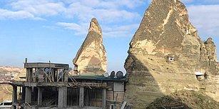 Tepkilere Neden Olmuştu: Kültür Bakanlığı Kapadokya'daki Otel İnşaatının Durdurulduğunu Açıkladı