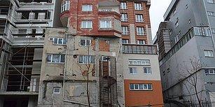 Hani Ev Ev Üstüne Olmazdı? Bağcılar'da Dikkat Çeken Apartmanın Belediye ve DASK Raporu da Varmış