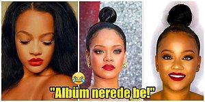 Hık Demiş Burnundan Düşmüş! Rihanna'ya Olan Benzerliği Yüzünden Hayranlarının Albüm Baskısına Maruz Kalan Kadın