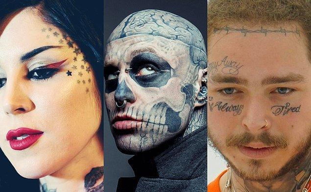 Bir dönem abartılı bulunan ve herkesin cesaret edemeyeceği yüz dövmeleri, son dönemde ünlüler sayesinde yeniden gündeme geldi.