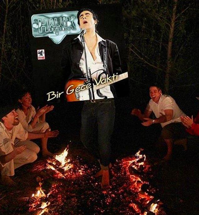 11. Hele bir de şu ateş yandığında şu gitar çıkmasın arkadaş! :)