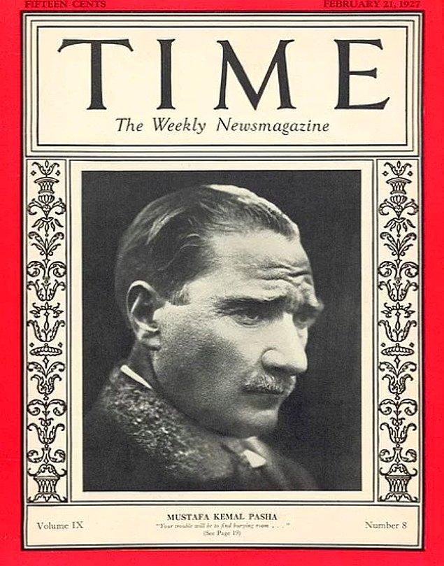 1927: Time dergisi, Mustafa Kemal Paşa'yı ikinci kez kapak yaptı.