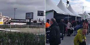 CHP Seçim Otobüsü, Tanzim Satış Noktası Önünde 'Domates, Biber, Patlıcan' Şarkısı Çaldı