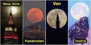 Her Biri Ayrı Güzel! En Büyük ve En Parlak Haliyle Görülen Süper Ay'ın Fotoğraflandığı Farklı Ülkelerden Büyüleyici Kareler