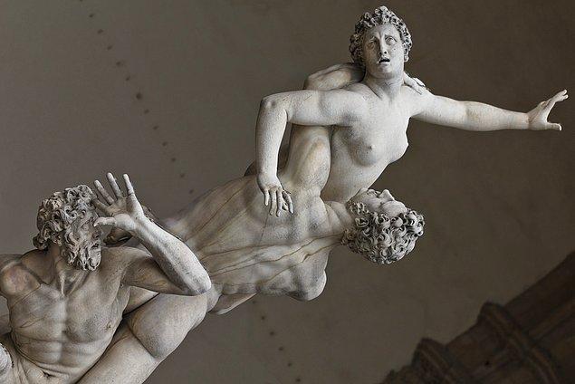 Giambologna'nın bu eseri, on altıncı yüzyıl İtalyan heykel sanatının en tanınmış eserlerinden biri.