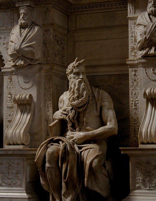 7. Moses, Michelangelo, 1515.