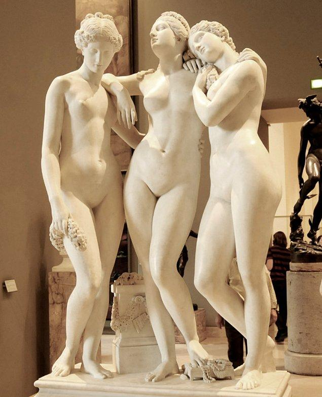 8. The Three Graces, Jean-Jacques Pradier, 1831.